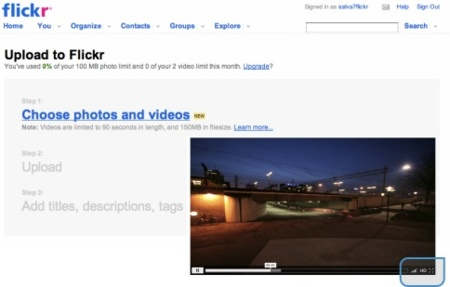 Flickr añade vídeos para todos, aumenta el número de sets y mejora el HD