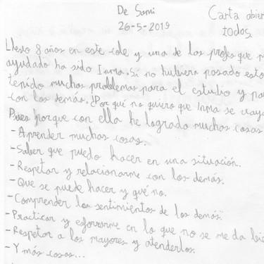 """La emotiva carta de un niño con autismo para que no despidan a su profesora: """"me ha ayudado a relacionarme con los demás"""""""