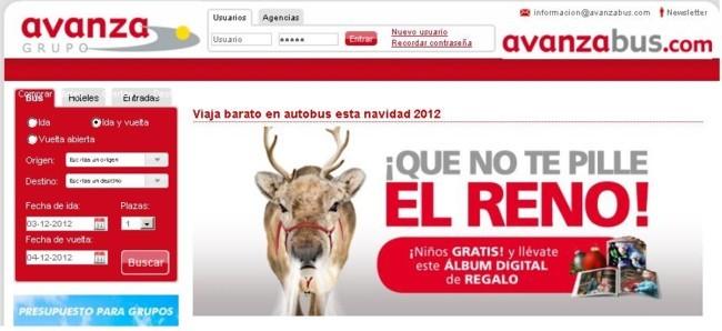 Oferta Navidad Avanzabus