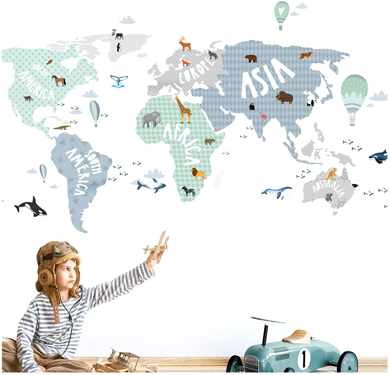 Papel mapa del mundo