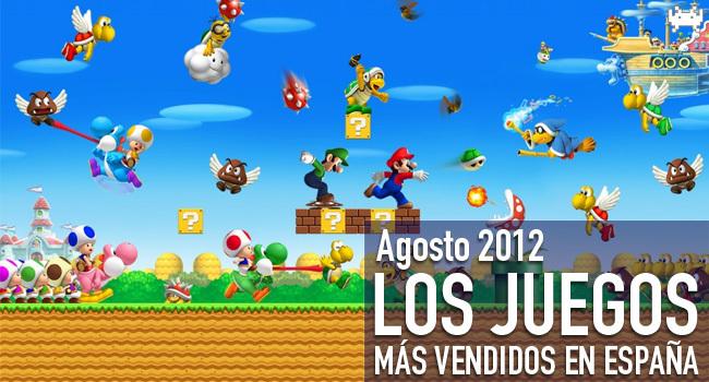 Los juegos más vendidos en España en agosto 2012