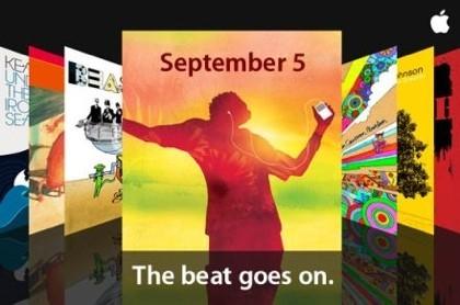 Apple presentará novedades relacionadas con los iPods el 5 de septiembre