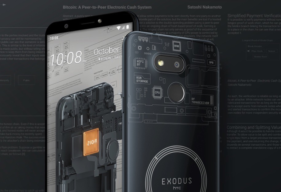 HTC Exodus 1S: the first phone capable of storing an entire node of Bitcoin is a low-end Android-Flash