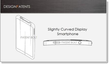 Patente curvada eje samsung