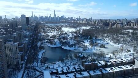 Let it snow: Nueva York bajo la nieve a vista de dron. Vídeos inspiradores