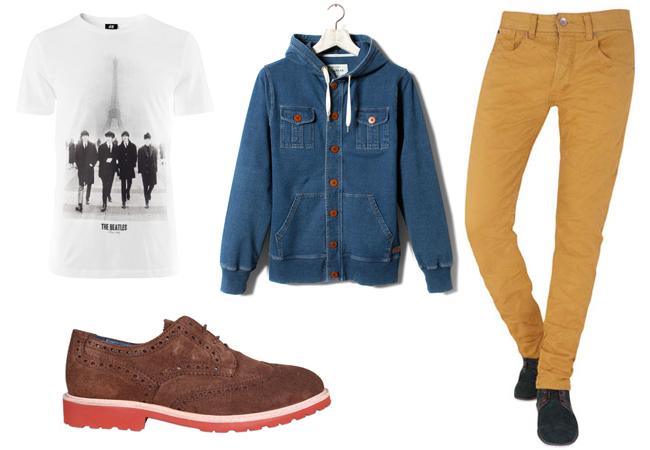 Sudadera: Pull&Bear - Camiseta: H&M  - Pantalón: Blanco - Zapatos: Scalpers