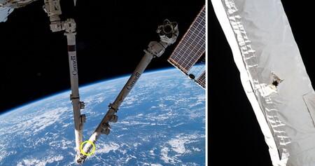 La basura espacial es un problemón: un pequeño objeto en órbita ha dañado la Estación Espacial Internacional