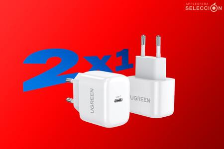 Carga la batería de tu iPhone súper rápido: el pack de mini adaptadores UGREEN 20W PD se queda a 11,99 euros en Amazon con cupón