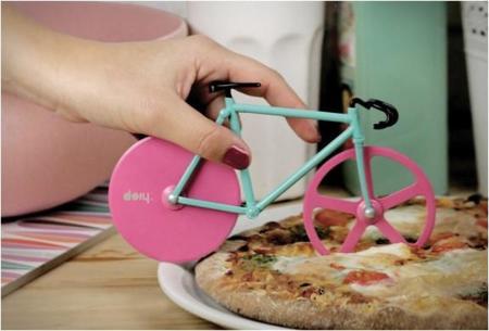 Fixie Pizza Cutter, corta tu pizza con una bicicleta