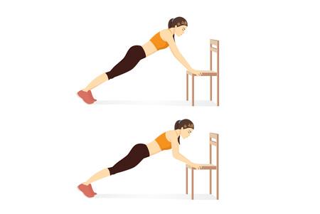 Flexiones torso elevado