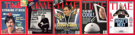 Steve Jobs (y Barrio Sesamo) en la revista Time