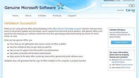 """Microsoft termina con su programa """"Office Genuine Advantage"""""""