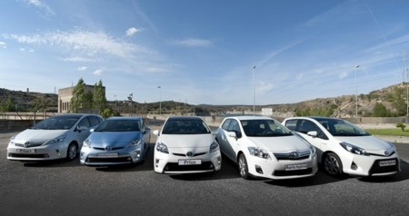 Gama híbrida de Toyota en España