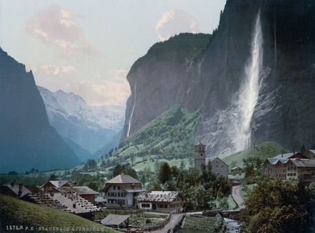 Staubbach Falls And The Mountain Jungfrau