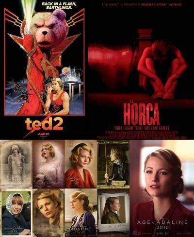 Carteles de Ted 2, La Horca y El Secreto de Adaline