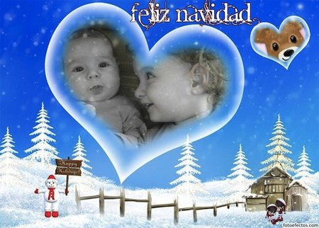Felicitaciones de Navidad con la foto de los niños