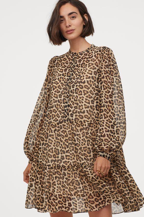 Vestido de estampado de leopardo