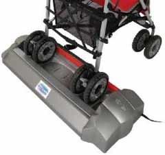 Para mecer el carrito del bebé sin manos