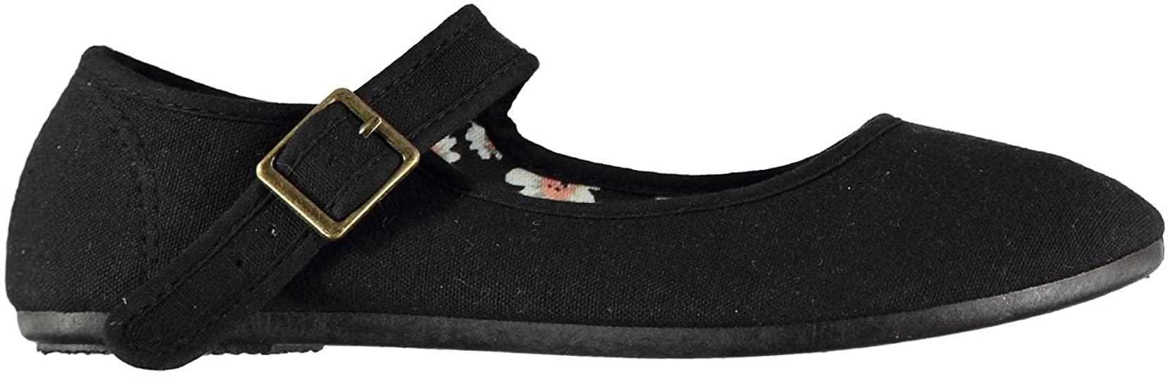 Slazenger Mujer Zapatillas Merceditas De Lona Mary Jane