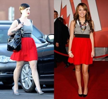 Kelly Osbourne contra Miley Cyrus con el mismo vestido de Theory
