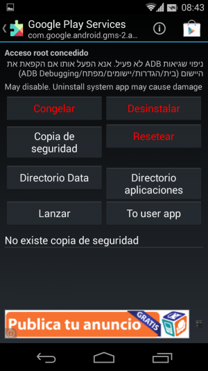 Aplicación Root Uninstaller