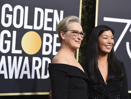 Meryl Streep, una de las más esperadas de la noche, apostó por la elegancia para ganar