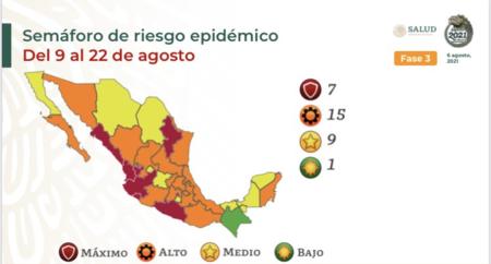 Cdmx Vuelve A Semaforo Rojo Por Covid Y Todo Mexico Ahora Tiene Siete Estados En Maximo Nivel De Alerta Y 15 En Naranja