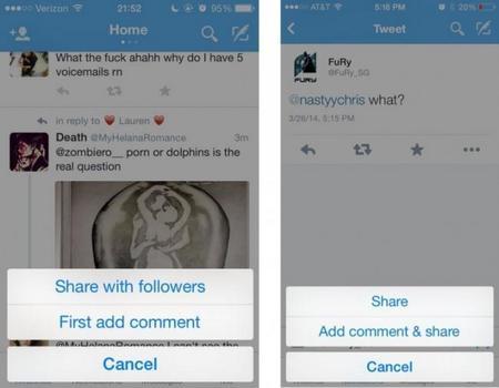 """Twitter está probando cambiar el nombre del botón """"retweet"""" a """"compartir"""""""