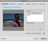 iPhoto2Twitter, plugin para enviar fotos a Twitter directamente desde iPhoto