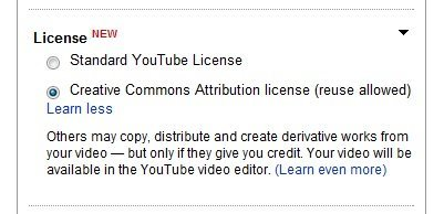 YouTube se abre a las licencias Creative Commons