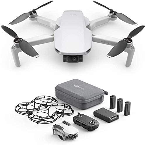 DJI Mavic Mini Combo CP.MA.00000124.01, Dron Ultraligero y Portátil, Duración Batería 30 Minutos, Distancia Transmisión 2 Km, Gimbal 3 Ejes, 12 MP, Video HD 2.7K, 3 Baterías (Enchufe EU)