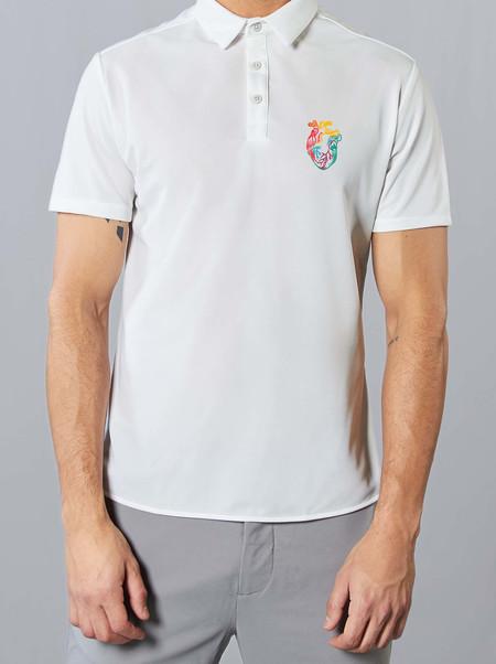 Polo 1 Blanco Pride Corazon