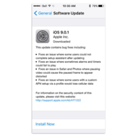 iOS 9.0.1 ya está disponible para su descarga