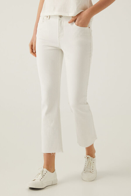 Jeans Blancos Flare Springfield