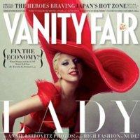 Lady in red, Lady Gaga para Vanity Fair enero