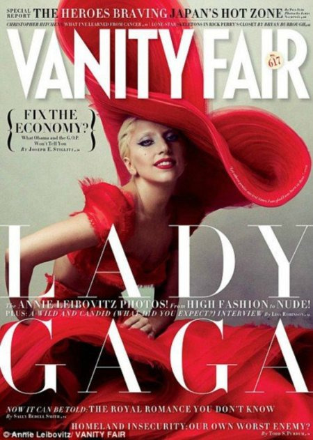 Lady in red, Lady Gaga para Vanity Fair enero