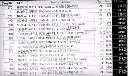 El precio del iPad mini podría partir desde los 245 euros