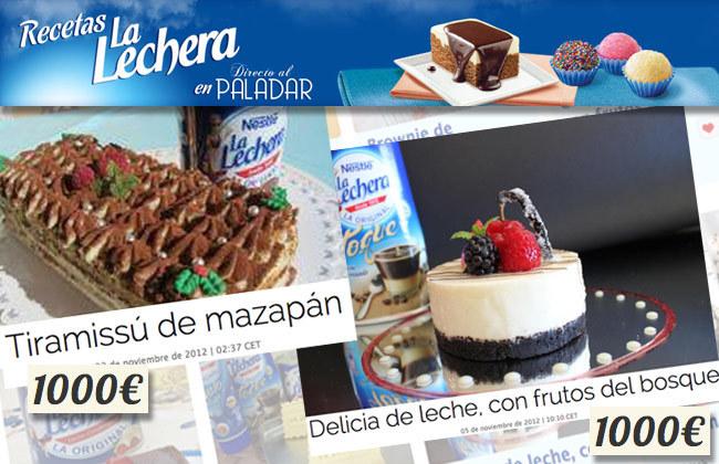 Ganadores concurso La Lechera - noviembre 2012
