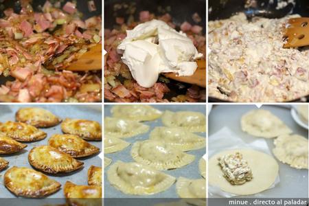 Empanadillas carbonara - elaboración