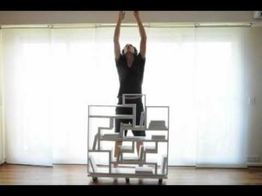 Una estantería modular basada en el Tetris