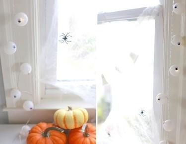 Hazlo tú mismo: una guirnalda de ojos saltones para decorar en Halloween