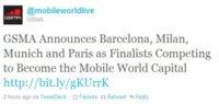 Barcelona competirá con Milán, Munich y París por los próximos Mobile World Congress
