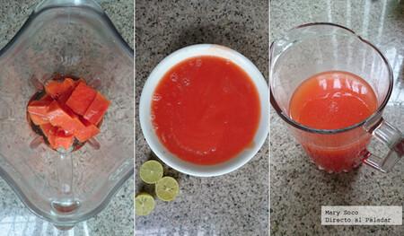 Agua de papaya y limón. Receta fácil de aguas frescas