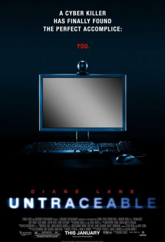 Posters de 'Untraceable', Diane Lane en peligro
