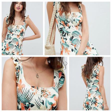 Remate final en las rebajas de ASOS: vestido con estampado tropical por 19,99 y envío gratis