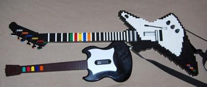 Guitarra de Lego para el 'Guitar Hero'
