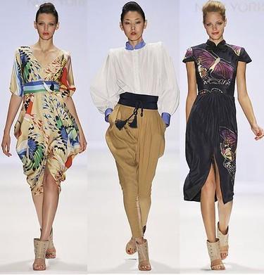 La inspiración oriental inunda la moda Primavera-Verano 2009