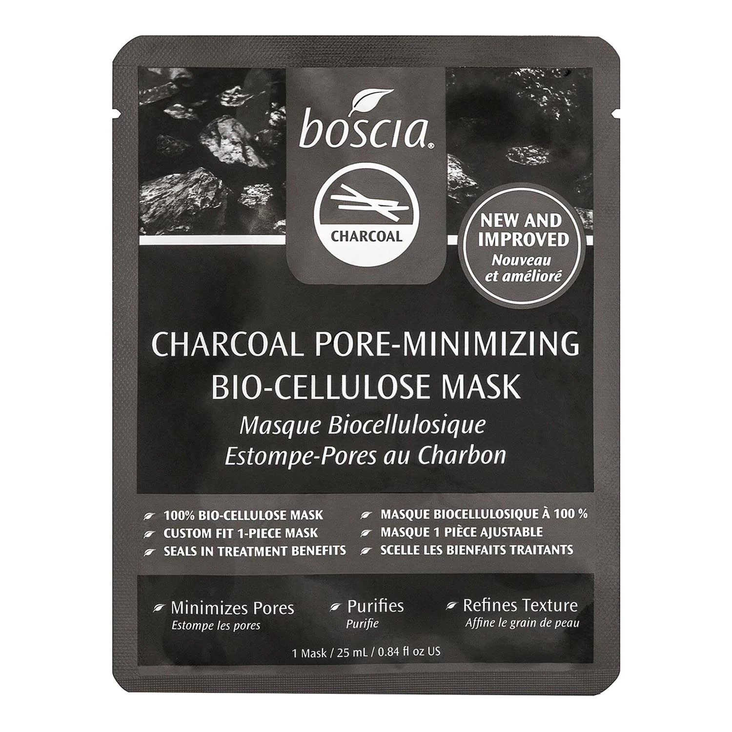 Charcoal Pore-Minimizing Bio-Cellulose de Boscia,
