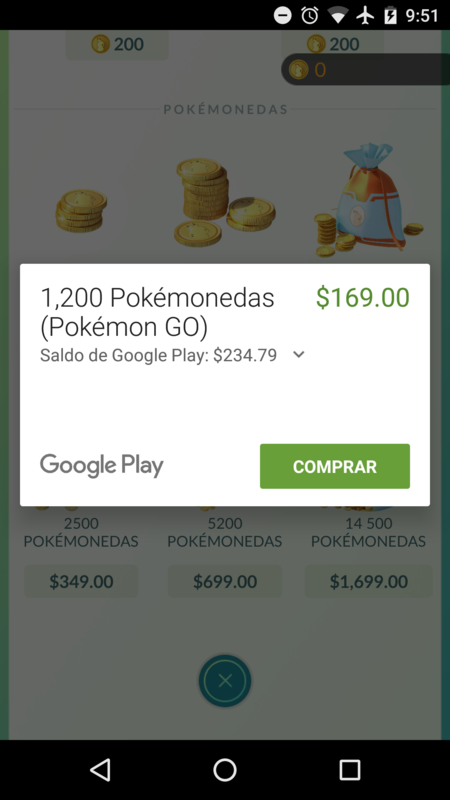 Pokemon Go Mexico Compras In App