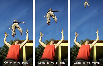 De padres y niños voladores